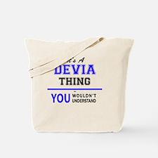 Funny Devia Tote Bag