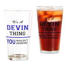 Cute Devin Drinking Glass
