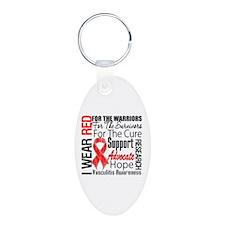 Vasculitis Awareness Aluminum Oval Keychain