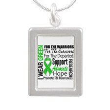 TBI Awareness Tribute Silver Portrait Necklace