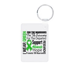TBI Awareness Tribute Aluminum Photo Keychain