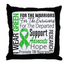 TBI Awareness Tribute Throw Pillow