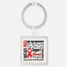 Stroke Awareness Square Keychain