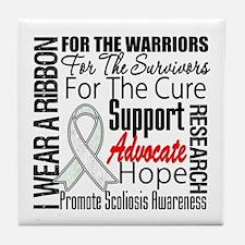 Scoliosis Tribute Tile Coaster