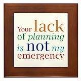 My emergency Framed Tiles