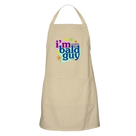 I'm with the bald guy BBQ Apron