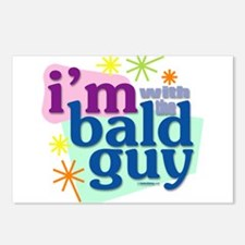 I'm with the bald guy Postcards (Package of 8)
