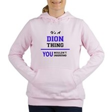 Funny Dion Women's Hooded Sweatshirt
