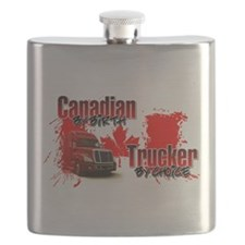 Canadian by Birth - Trucker by Choice Flask