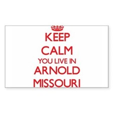 Keep calm you live in Arnold Missouri Decal