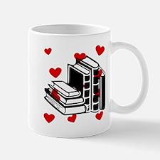 Books Hearts Mugs