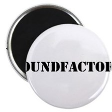 Sound Factory (SF) in black lettering Magnet