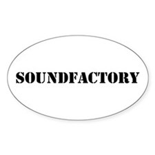 Sound Factory (SF) in black lettering Decal