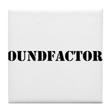 Sound Factory (SF) in black lettering Tile Coaster
