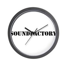 Sound Factory (SF) in black lettering Wall Clock