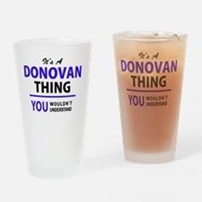 Cute Donovan Drinking Glass