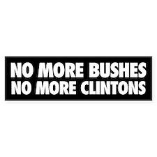 No More Bumper Car Sticker