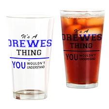 Unique Drew Drinking Glass