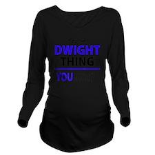 Cute Dwight Long Sleeve Maternity T-Shirt