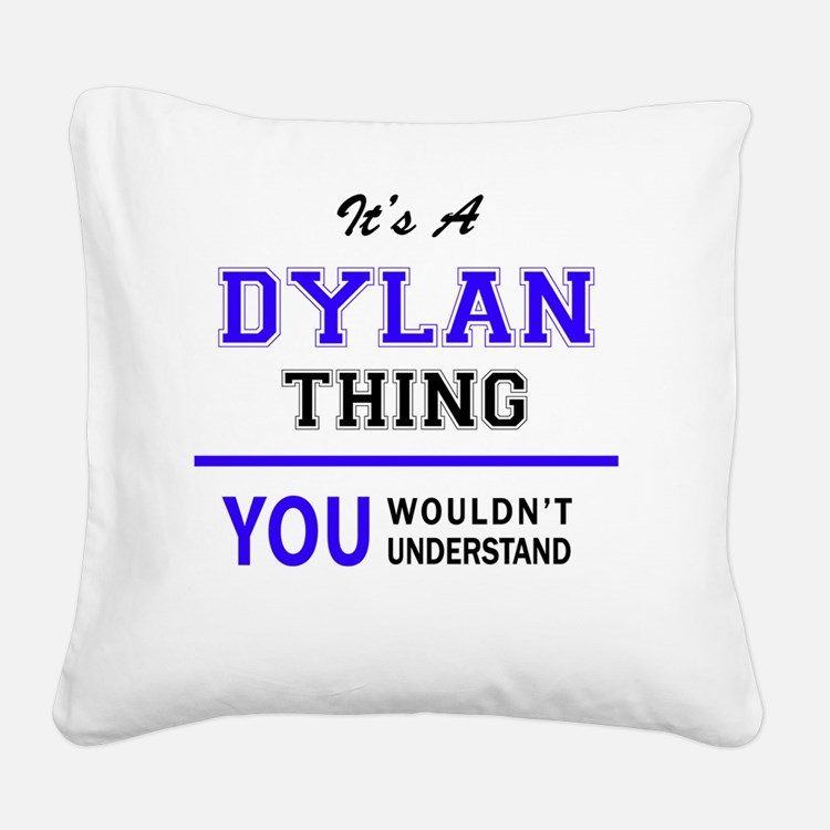 Cute Dylan Square Canvas Pillow