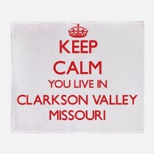 Keep calm you live in Clarkson Valle Throw Blanket