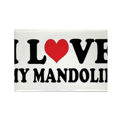 I Love My Mandolin Rectangle Magnet