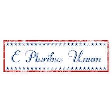 E Pluribus Unum Distressed Bumper Bumper Sticker