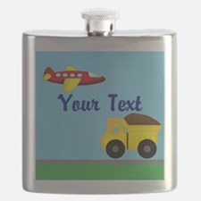 Trucks and Planes Flask