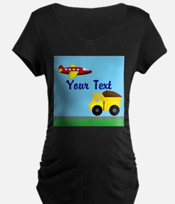 Trucks and Planes Maternity T-Shirt
