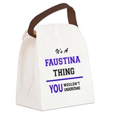 Cute Faustina Canvas Lunch Bag