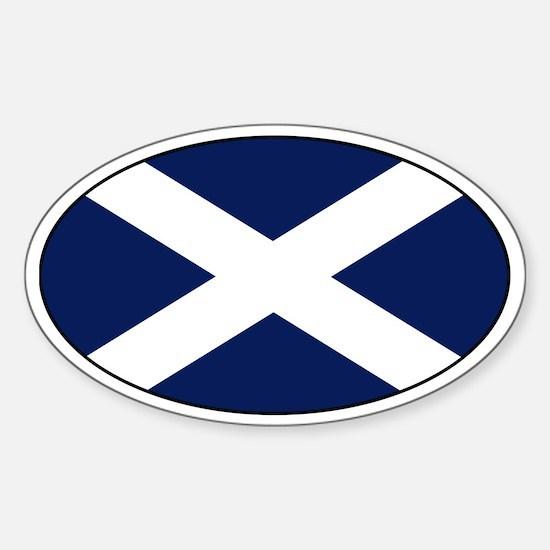 Scottish flag Oval Bumper Stickers