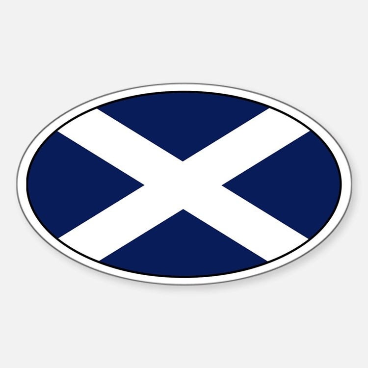 Scottish flag Oval Decal