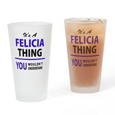 Cute Felicia Drinking Glass