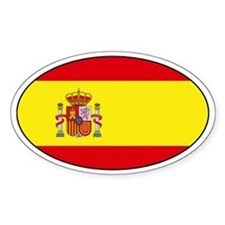Spanish flag Oval Decal