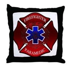FIREFIGHTER-PARAMEDIC Throw Pillow