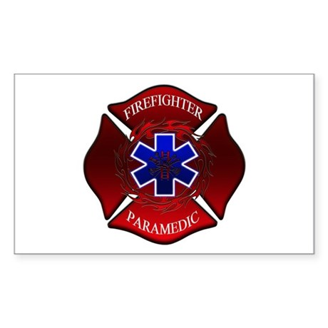 FIREFIGHTER-PARAMEDIC Rectangle Sticker
