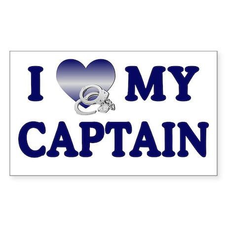 Love My Captain Rectangle Sticker