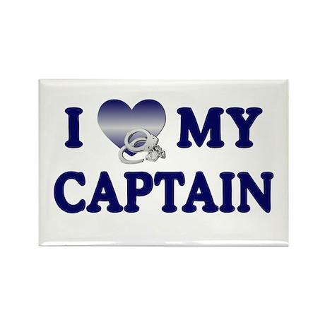 Love My Captain Rectangle Magnet