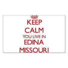 Keep calm you live in Edina Missouri Decal