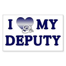 Love My Deputy Rectangle Decal
