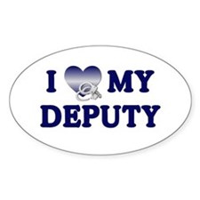 Love My Deputy Oval Decal