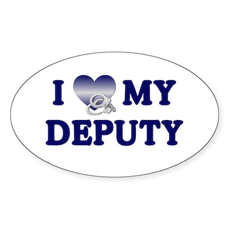 Love My Deputy Oval Sticker