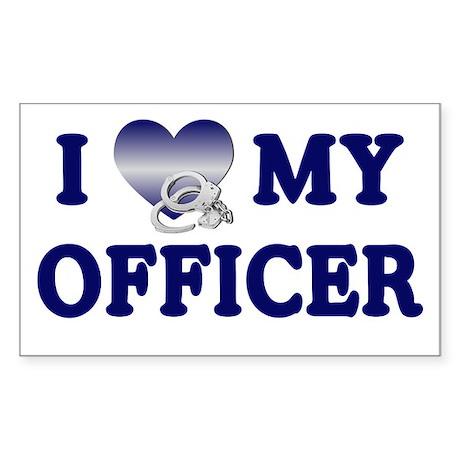 Love My Officer Rectangle Sticker