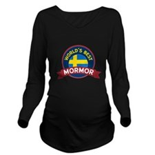 World's Best Mormor Long Sleeve Maternity T-Shirt
