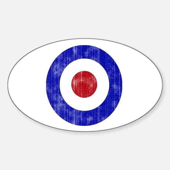 Sixties Mod Emblem Sticker (Oval)