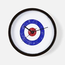 Sixties Mod Emblem Wall Clock