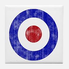 Sixties Mod Emblem Tile Coaster