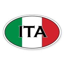 Italian flag Oval Decal