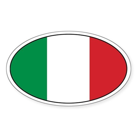 Italian Stickers Oval Sticker
