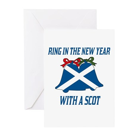 Scottish New Years Greeting Cards (Pk of 10)